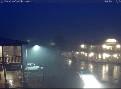 Light rain and fog are creating some challenging drivng conditions in @CloudcroftNM and between #Lordsburg and @SilverCityNM this morning. If drivers encounter wet roads or fog, slowdown.  #nmwx