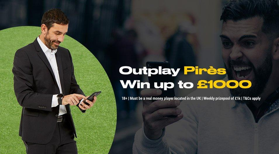OUTPLAY PIRES! ⚽️  Predict the score of Premier League games this weekend, and you could win up to £1,000... Or 20,000£ at the end of the season!💷  T&C's apply. Play now ➡️ http://ow.ly/qkz330nIgBa  #EPL