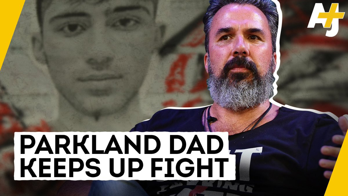 """""""I'll be his dad forever.""""  This Parkland father is painting murals with images of his son's face to raise awareness about gun violence. His son was one of the 17 people killed in the Parkland school shooting."""