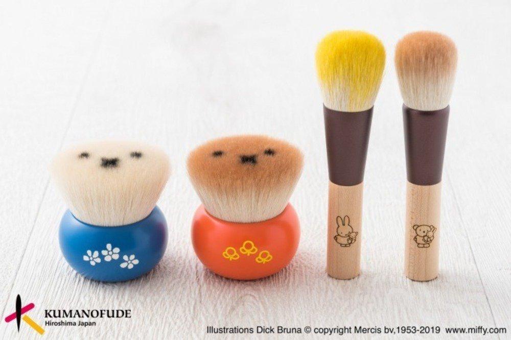 ミッフィーの熊野筆メイクブラシ「ミッフィークマノフデ」毛先にミッフィーの顔 https://t.co/rc6Zjsg5bM