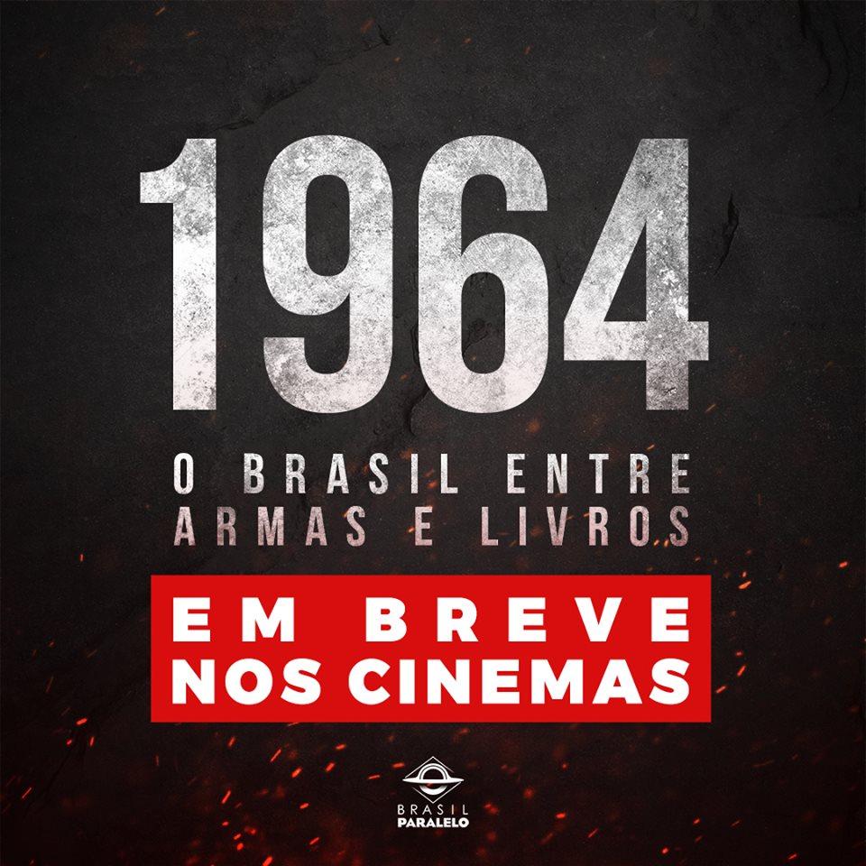 """Milhares de pessoas querem o documentário """"1964: O Brasil entre armas e livros"""" passando nos cinemas de suas respectivas regiões. O Brasil Paralelo está organizando o lançamento e os locais de estreia. Em breve, através de nossos canais oficiais, traremos informações detalhadas."""
