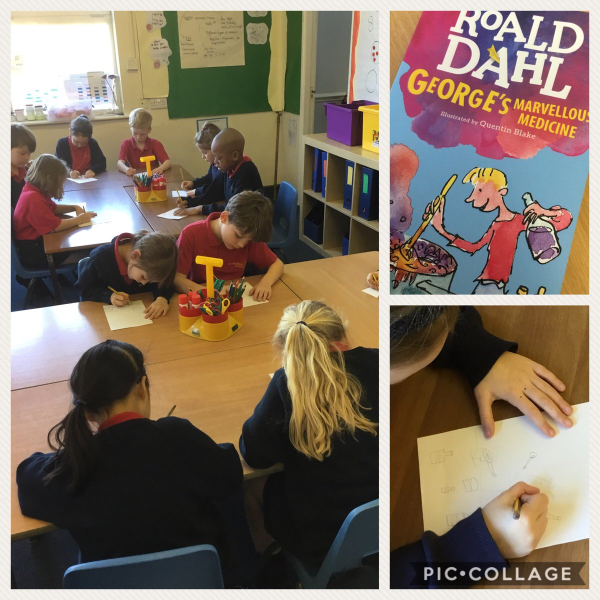 test Twitter Media - Year 2 are having a lovely afternoon creating our own front covers for George's Marvellous Medicine! https://t.co/l1HlLpOSAS