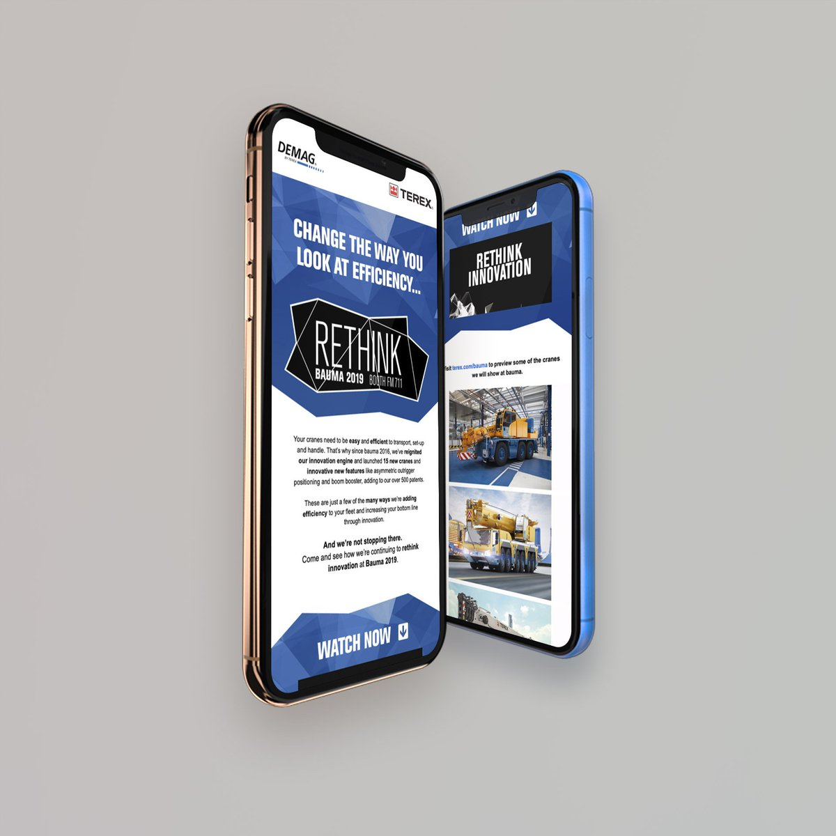 Going to @baumaOfficial? Our partner @terexcranes has a treat in store for visitors to their stand. How do we know? We're working with them on the awareness campaign leading up to the show.   #brand #design #rethinkinnovation #bauma2019