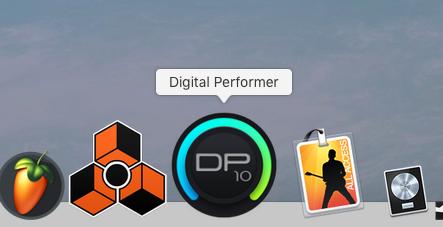 #Dock 内もしっかり #DP10 に自動で上書きされております(笑  #MOTU #DigitalPerformer10 #DigitalPerformer #DP