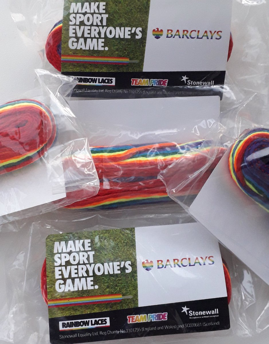 🌈 Following on from the brilliant @altrinchamfc shirt design, tonight & for the next few games we will be wearing #rainbowlaces to show our support.  Campaigns like this don't just have to be box-ticking, one weekend exercises.  The game is for everyone 🏳️‍🌈  Thanks to @BarclaysUK
