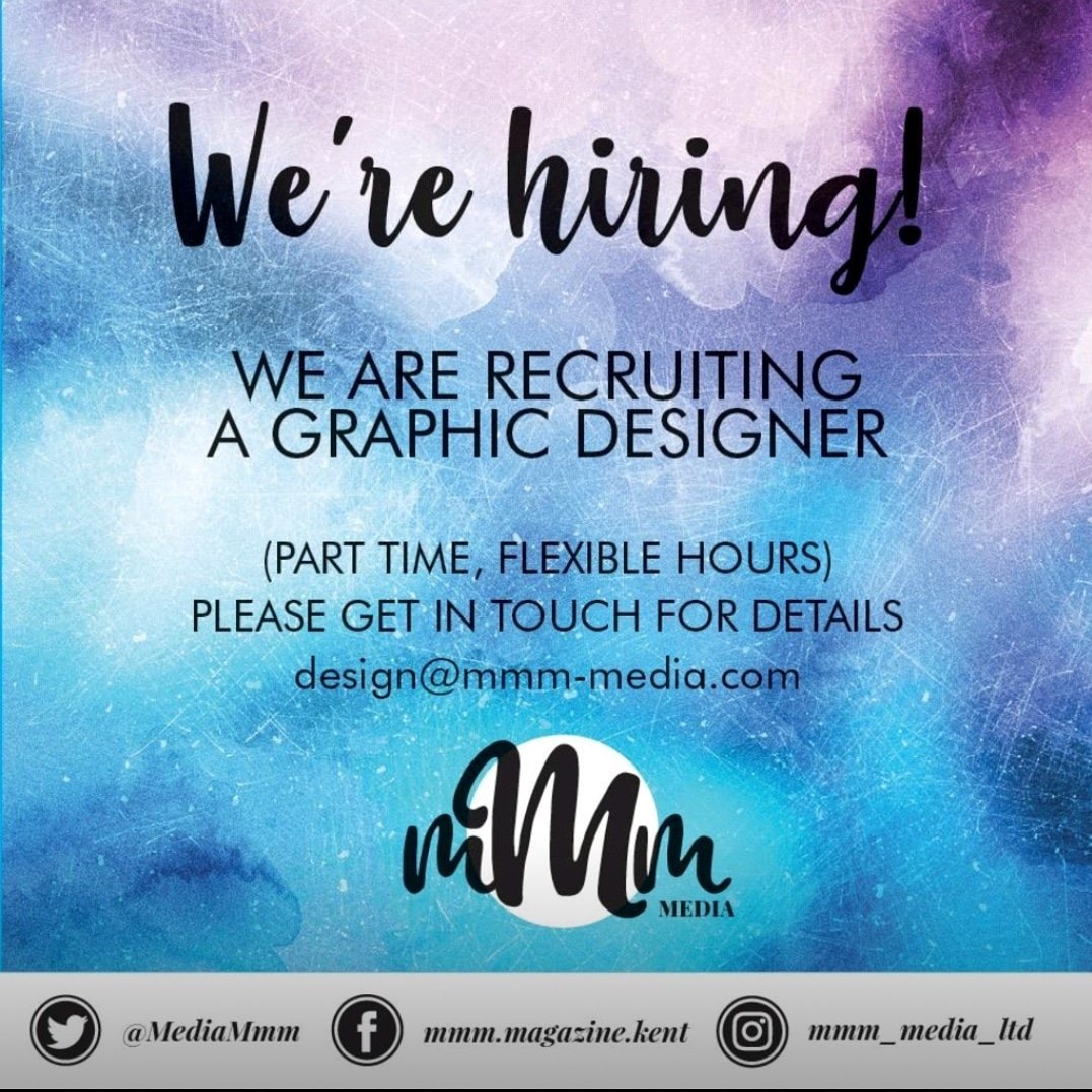 We're recruiting a Graphic Designer withpart time, flexible hours.... get in touch for more details#graphicdesigner#design#creative #magazine#mmm#production#publishing #career#newjob#opportunity #newchallenge #Kent#luxury#lifestyle#arts #flair#team