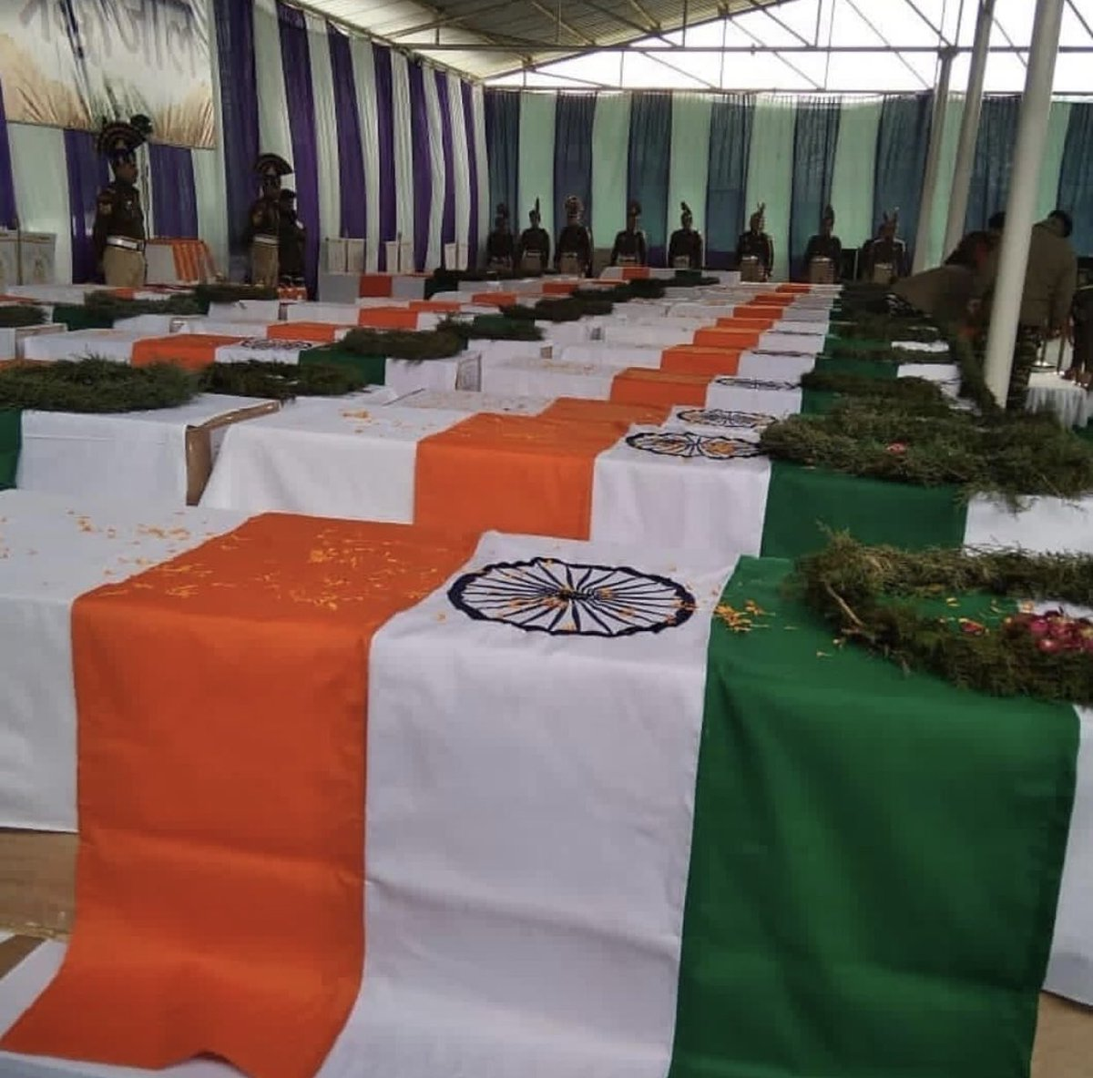 Our martyrs of #PulwamaAttack #RIP #CRPFKashmirAttack Such a cowardly act by our neighbouring country. #Shame  One day their destructive and criminal minds will devour their own country and their very own people. N we shall see them burn in their own fire. #JaiHind
