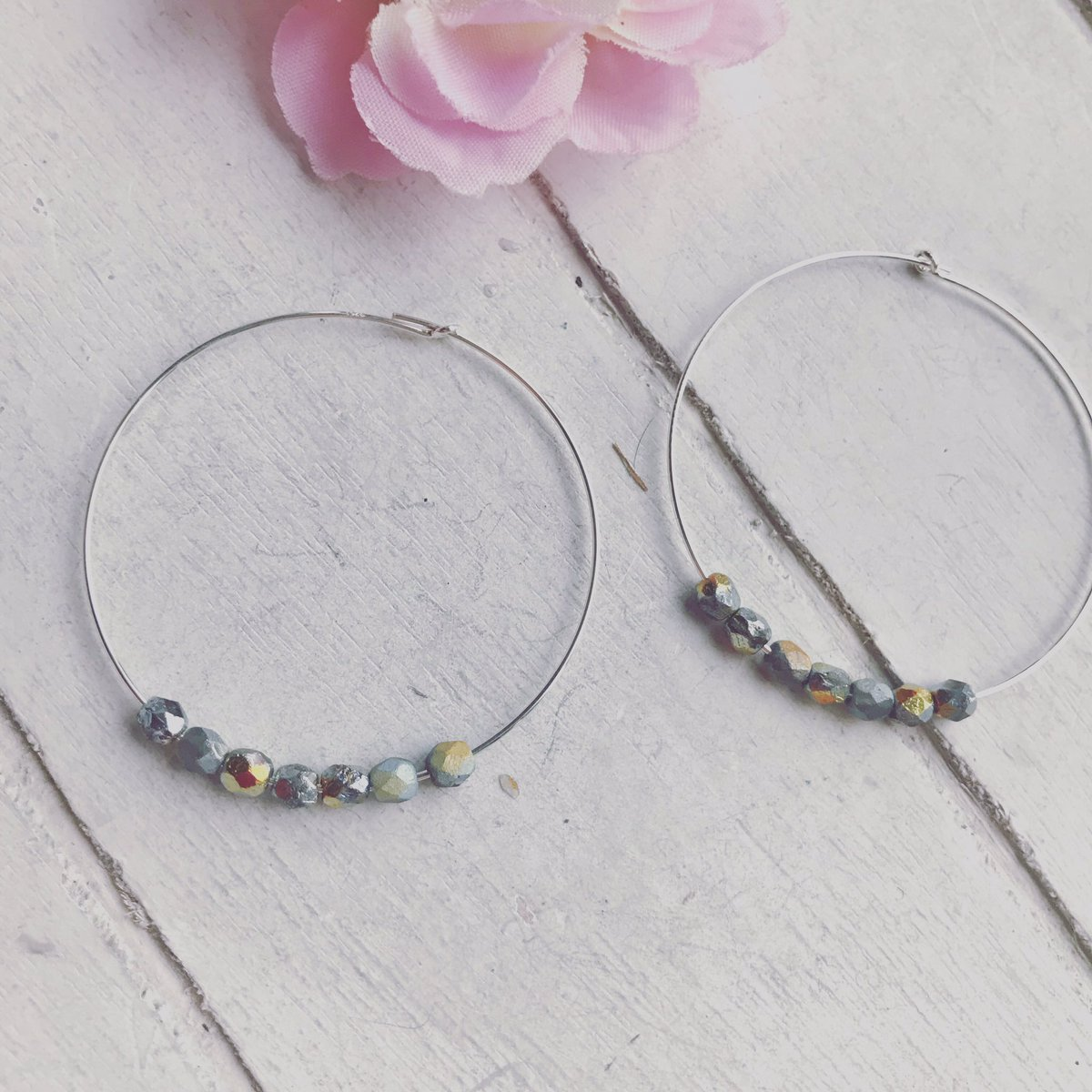 My Large 45mm Beaded Sterling Silver Hoops are very lightweight and easy to wear  https:// etsy.me/2X5mYZm  &nbsp;   very versatile to suit many outfits and great for day or evening wear #Elevenseshour #atsocialmedia #artisanuk #HandmadeHour £9.50 with waived postage #etsyjewelry <br>http://pic.twitter.com/4m6C8aZHAO
