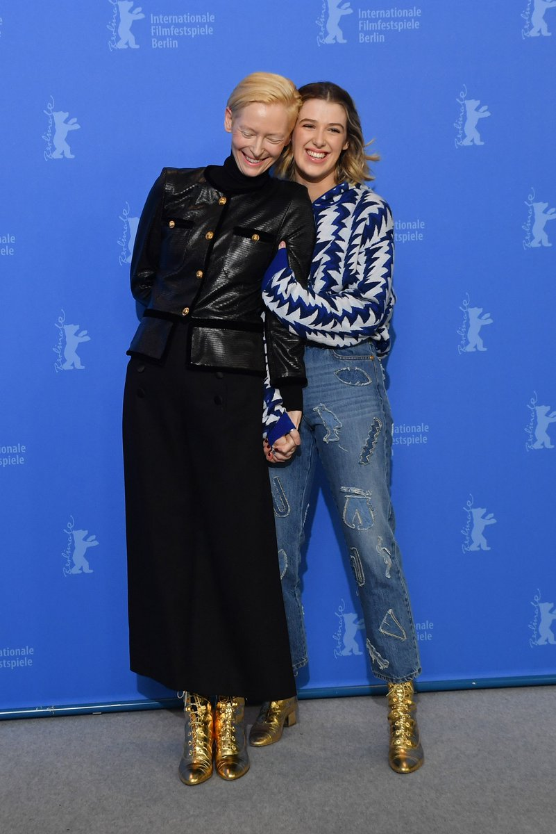 House ambassador Tilda Swinton and her daughter Honor Swinton-Byrne attended the 69th #Berlinale Film Festival to present 'The Souvenir' in which they appear together, wearing looks from #CHANELMetiersdart and #CHANELCruise collections.