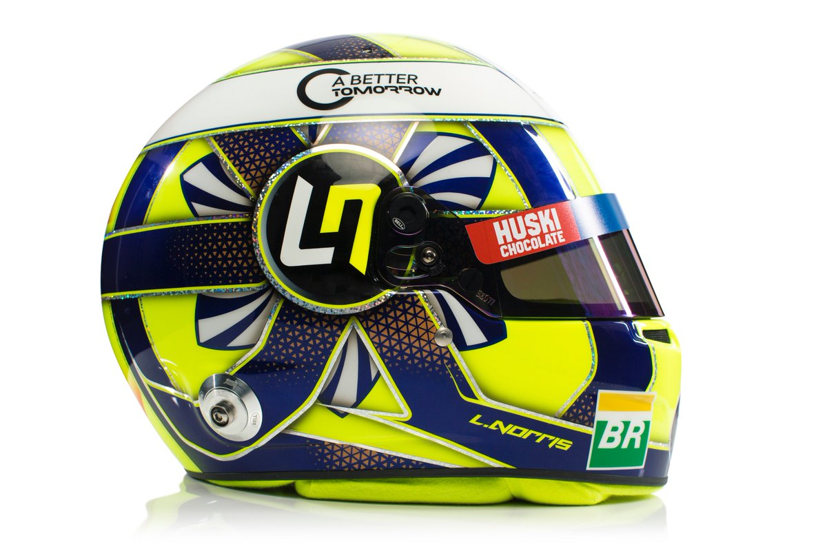 Take another look at the lids that @Carlossainz55 and @LandoNorris will be sporting this season. 🤩👌