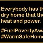 #WarmSafeHomes #FuelPovertyAwarenessDay