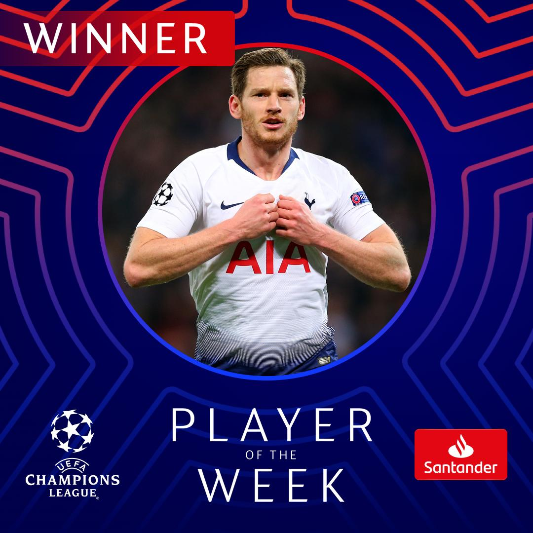 UEFA Champions League's photo on player of the week