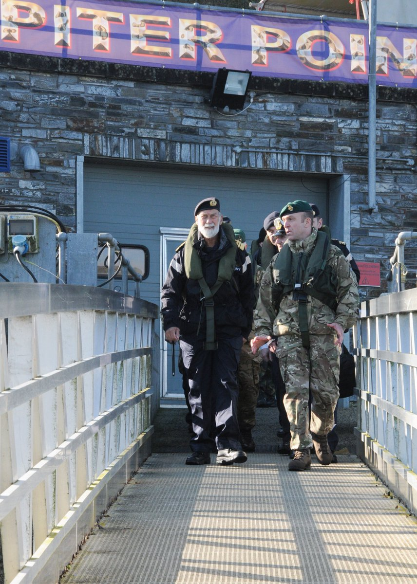Yesterday we were pleased to welcome HRH Prince Michael of Kent to #HMSRaleigh albeit briefly, as he was picked up by the @RoyalMarines and given a demonstration of their capabilities on the River.  @RoyalNavy @RNReserve @FOST @HMNBDevonport @RoyalFamily
