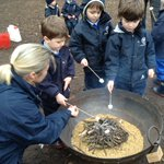 The Kindergarten children enjoyed learning how to make a fire safely in Forest School this week. The best bit was getting to toast some marshmallows! #forestschool #outdoorlearning #eyfs #LongacreLife