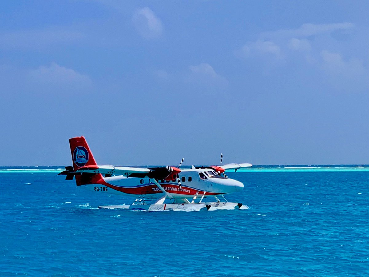 Having a flight in a sea-plane is a lot of fun, if not a little loud and hot! . . . . . #paradise #maldives #heavenonearth