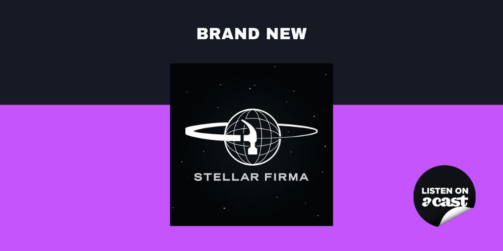 """Coming later today: a brand new weekly sci-fi comedy podcast following the misadventures of Stellar Firma Ltd's """"highest born but lowest achieving"""" planetary designer Trexel Geistman and his bewildered clone assistant David 7. Join them each Friday ☄️ http://acast.com/stellarfirma"""