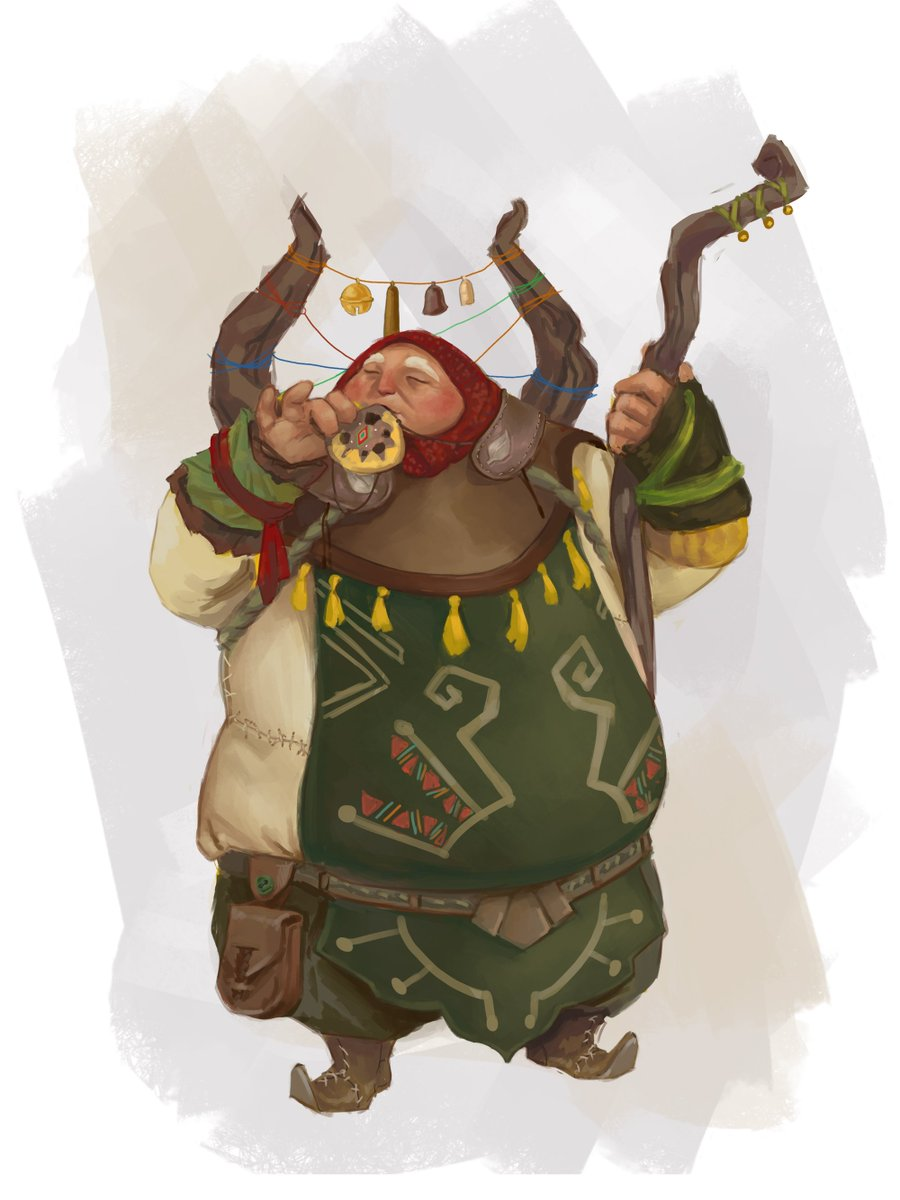 """Say """"hi"""" to Poko ? he's a Bard/Druid and his favourite food is mushroms ?"""
