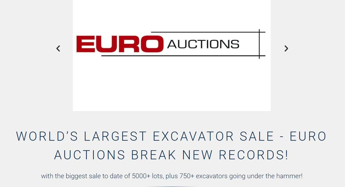 🚜Euro Auctions,Europe's leading auctioneers of industrial plant, construction and agricultural machinery, hosted its largest ever sale at its Leeds site between 30th January and 1st February. Read in full....https://auctionnews.com/news/176 #usedmachinery #breakingrecords @Euro_Auctions