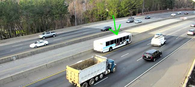Disabled CATS bus - Independence (US 74) IB past Briar Creek Rd, moved to left shoulder #clttraffic #clt<br>http://pic.twitter.com/pCMRGywf2Q