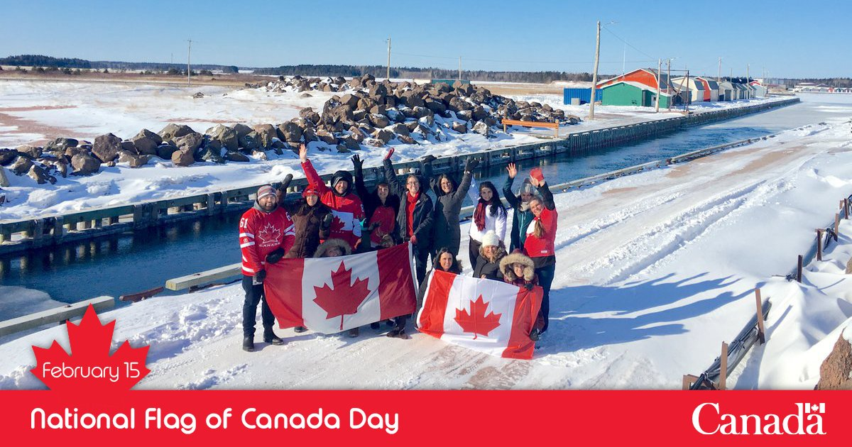 We are the flag!  Today is the 54th birthday of our #CanadianFlag! Show off your pride by posting your best pics with the red and white! https://www.facebook.com/events/519343058573635/…