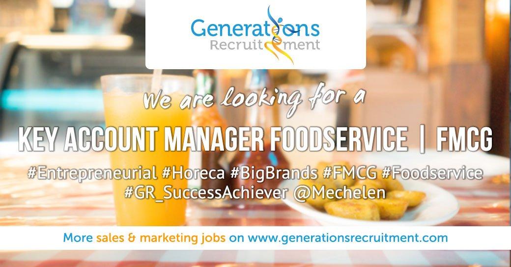 We are looking for a KEY ACCOUNT MANAGER FOODSERVICE   FMCG Apply now ! https://bit.ly/2EbBdUZ  #Entrepreneurial #Horeca #BigBrands #FMCG #Foodservice #GR_SuccessAchiever @Mechelenpic.twitter.com/urk9mp2zND