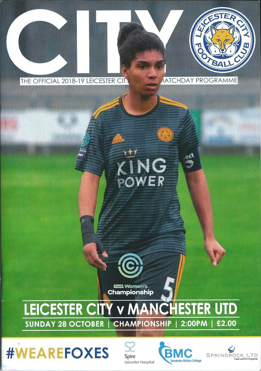 We we're supposed to play Leicester in October but we ended up playing them last Wednesday here's the difference in programmes  #MUWomen