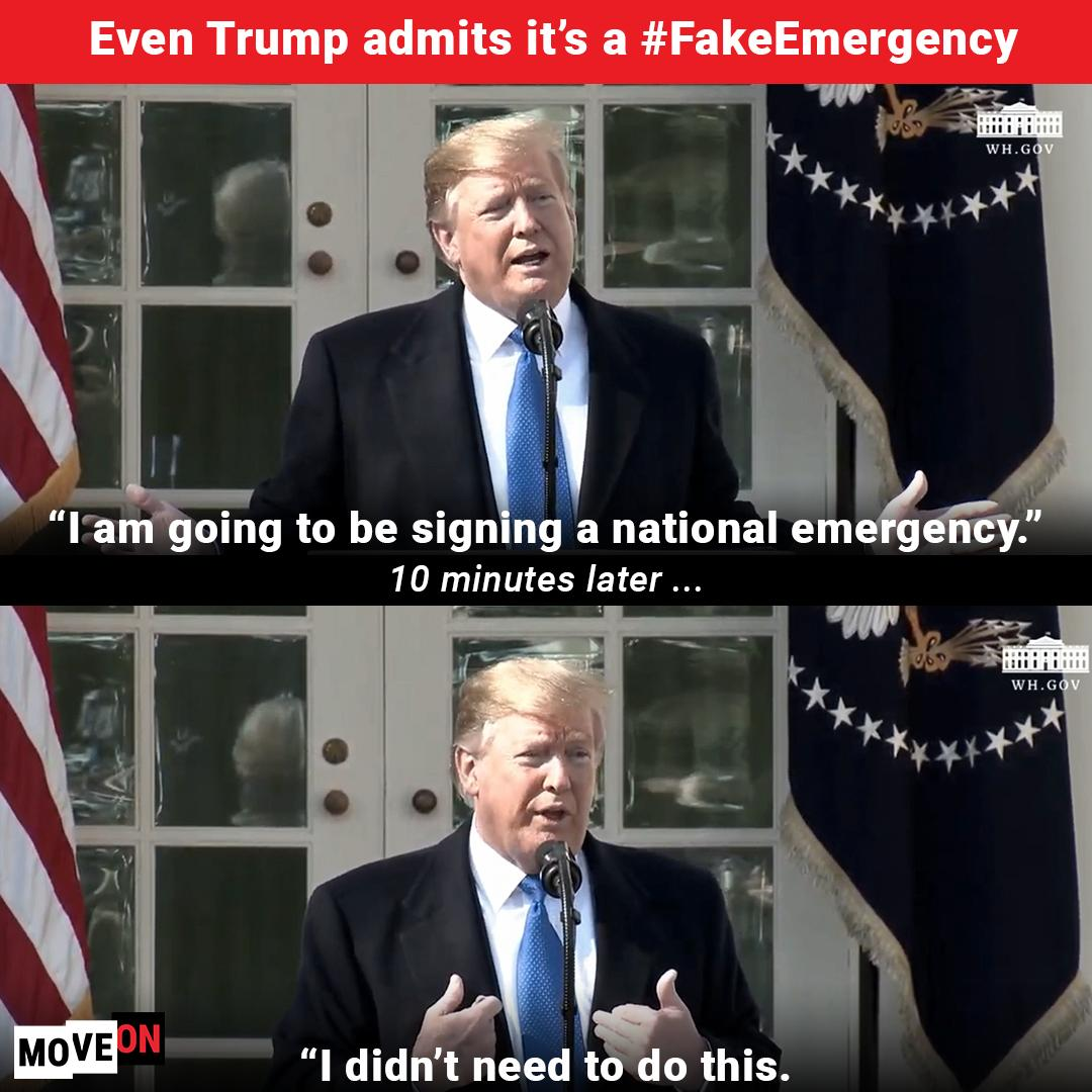 Take action Monday: https://t.co/YNvEE4F9mO  #FakeTrumpEmergency