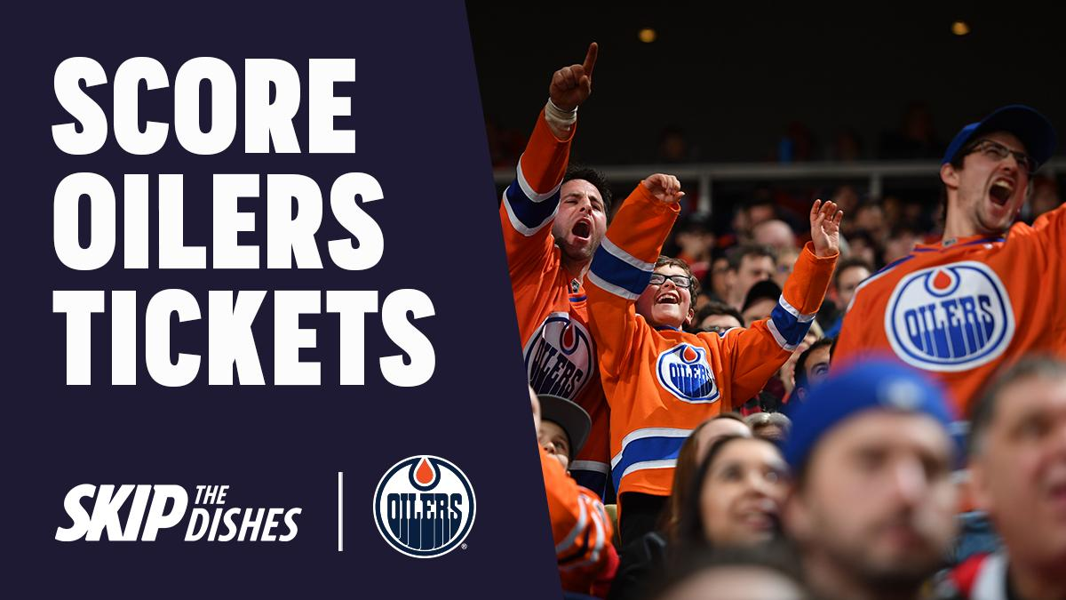 He retweets, he scores! You could win a pair of tickets to the Edmonton Oilers vs. Anaheim Ducks game on Feb. 23 with SkipTheDishes. Retweet this post before Feb. 20 for your chance to win. Visit https://bit.ly/2IitPez  for full contest details.