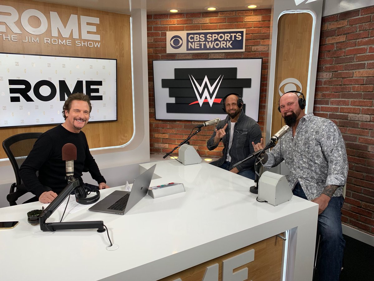 #GoodBrothers @WWE Superstars @KarlAndersonWWE & @LukeGallowsWWE joined @jimrome  in #TheJungle today