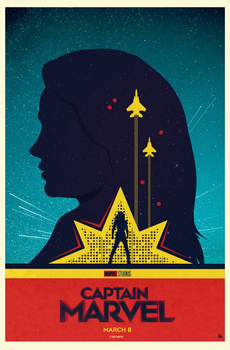 Check out the first in a series of 10 exclusive posters inspired by Marvel Studios' #CaptainMarvel. Art by @needledesign. Comment 💫 if you're excited for March 8!
