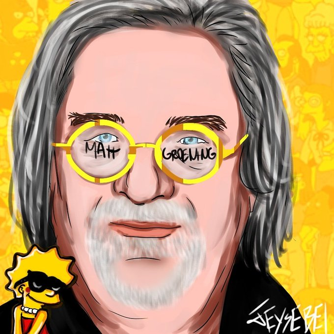 Happy Birthday to Matt Groening the creator of The Simpsons and Futurama and others things.