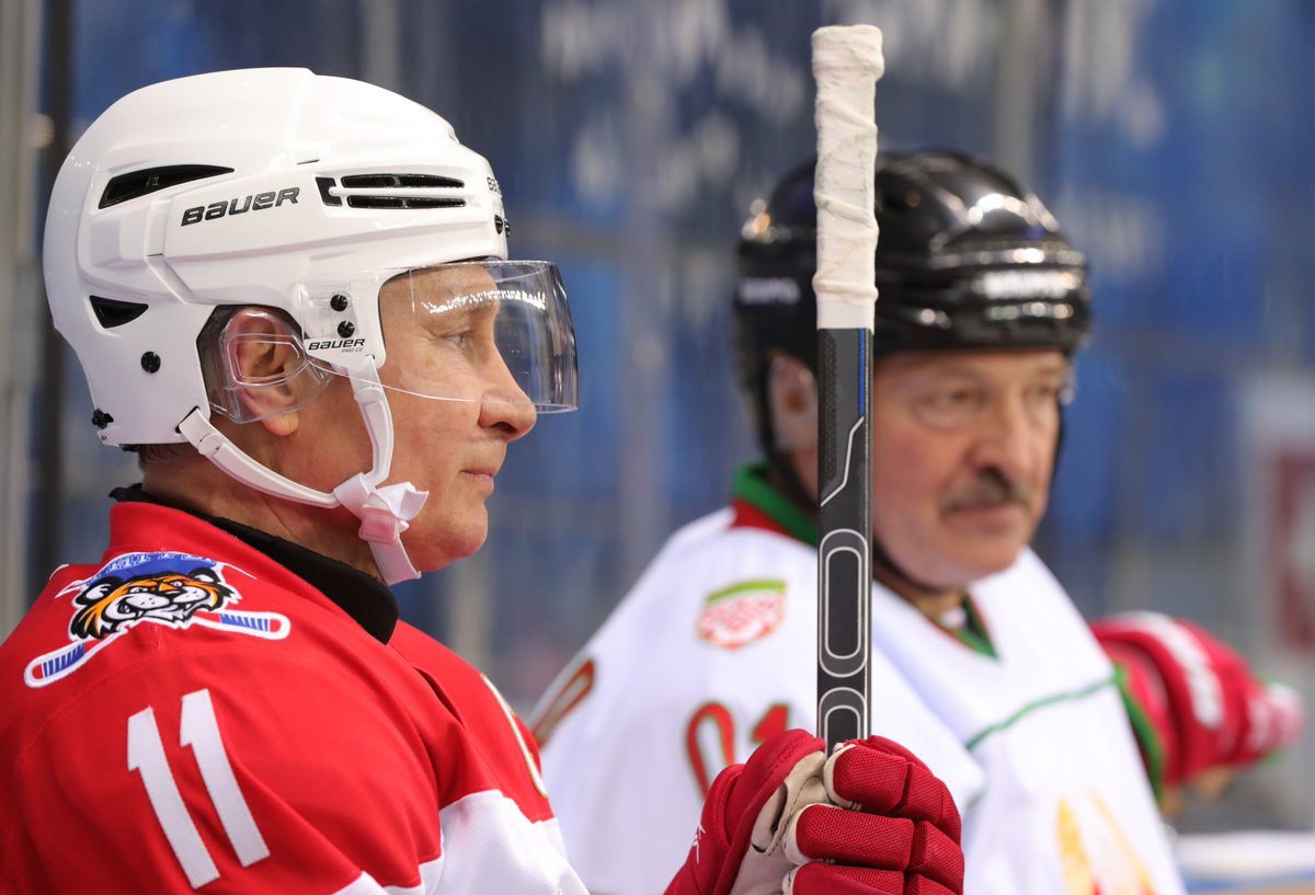 Vladimir Putin and Alexander Lukashenko took part in an ice hockey game https://t.co/zjZJHoO4dd