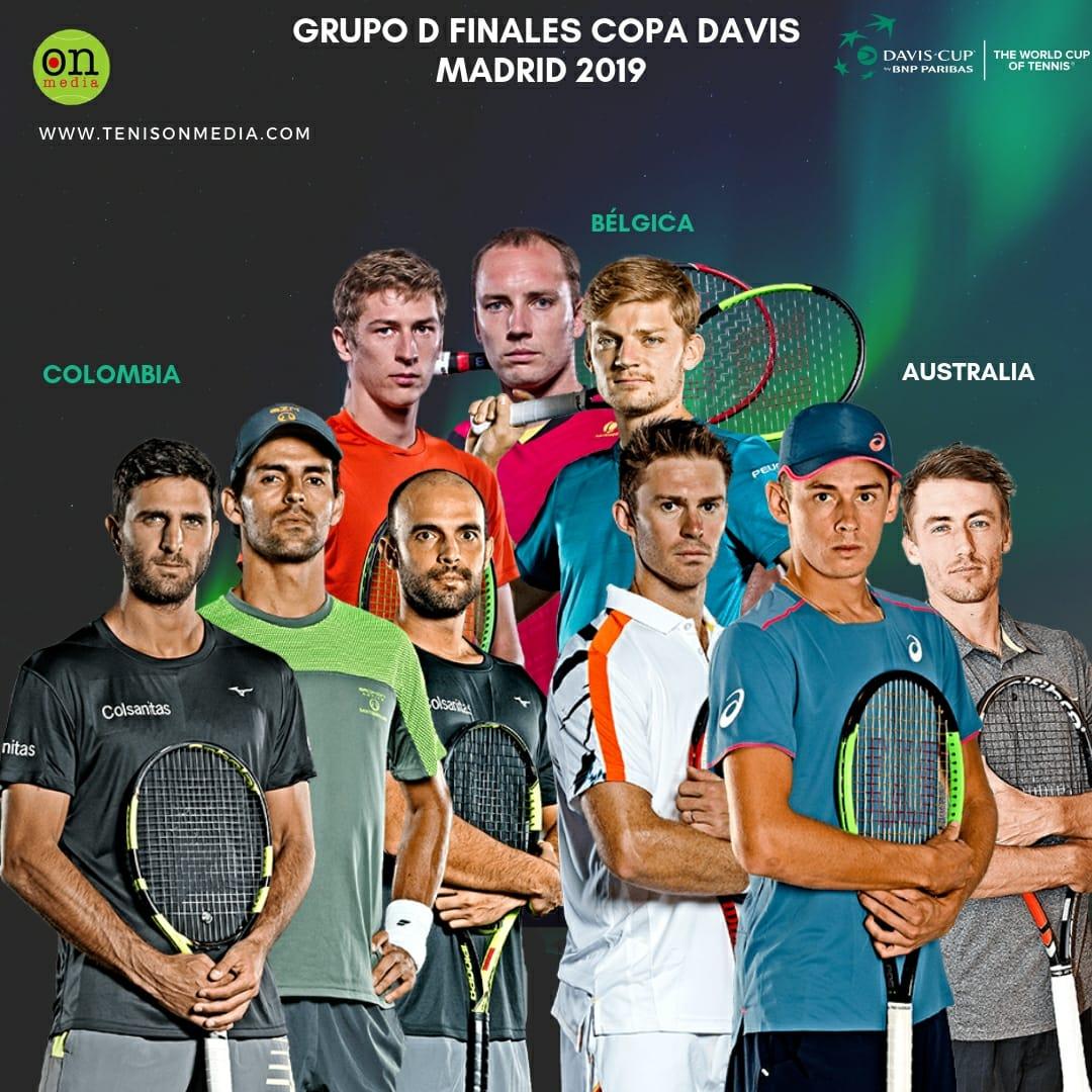 Así quedó el grupo D, en donde Colombia 🇨🇴 enfrentará a Bélgica 🇧🇪 y Australia 🇳🇿 en las finales de la Copa Davis 🏆 en Madrid 🇪🇸  @juanscabal @RobertFarah_ @SantiGiraldoSG @fedecoltenis @CopaDavis #belgica #Australia #CopaDavis #TenisonMedia 🎾🔥⚡