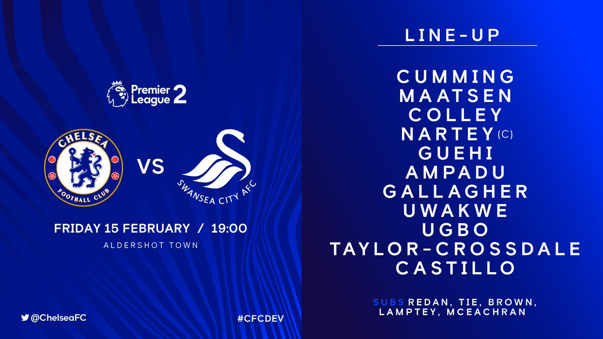 Meanwhile at Aldershot, we're underway in tonight's Premier League 2 action between #CFCDEV and Swansea!