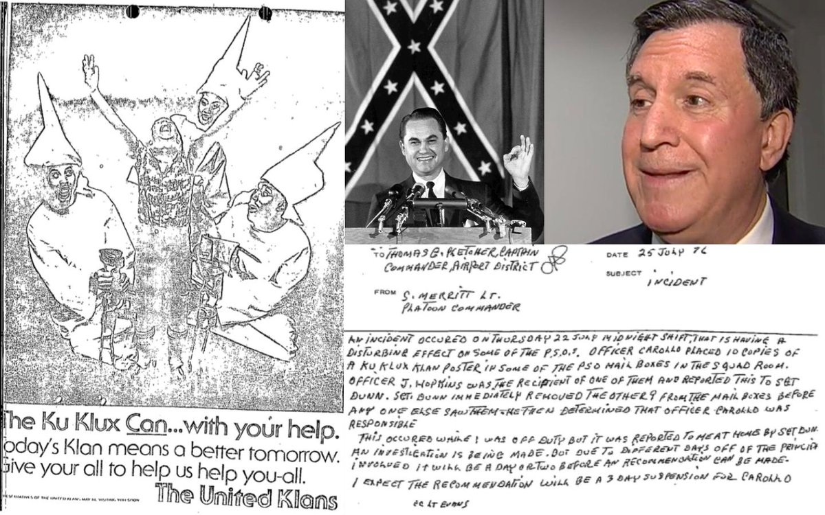 Miami Commissioner @JoeCarollo2017  is a well known racist who supported Alabama segregationist George Wallace for president and resigned from Miami-Dade Police right before they fired him for putting a KKK cartoon in the mailboxes of black officershttps://t.co/GWcYYh1clG: