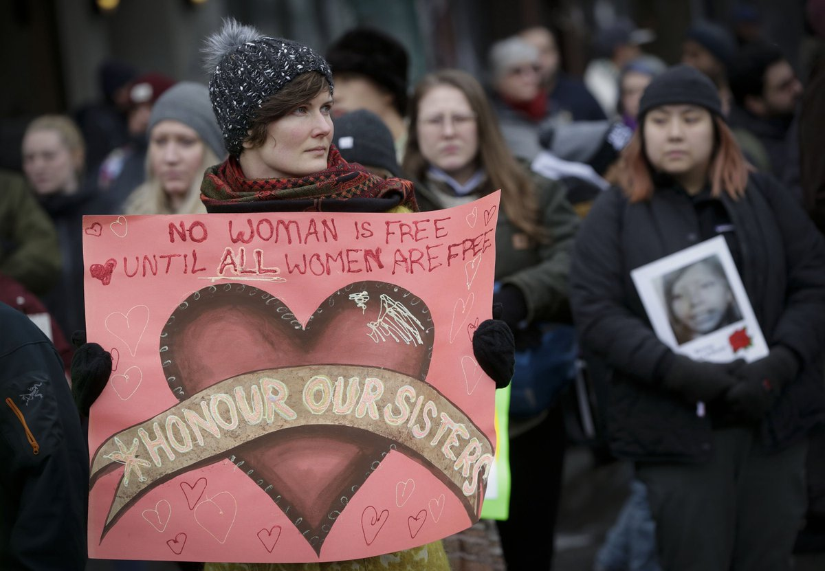 Thousands of women take to the street in Vancouver to commemorate female victims killed or missing due to violence. The Women's Memorial March, held on Valentine's Day, aims to raise public awareness of violence against women