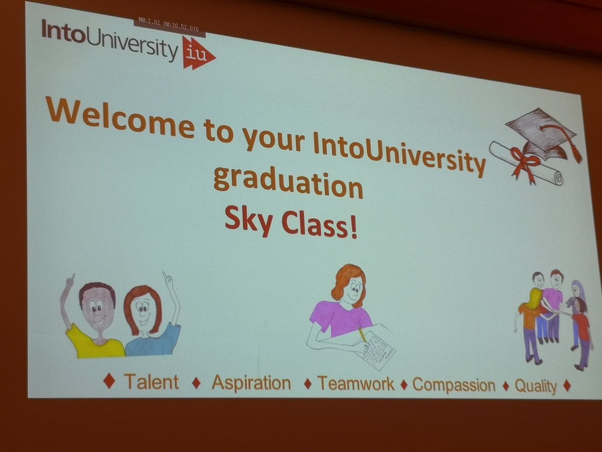 A lovely afternoon with @IntoUniversity and Year 6 from Grange Primary School - congrats on your graduations! #AimHigh #graduationday