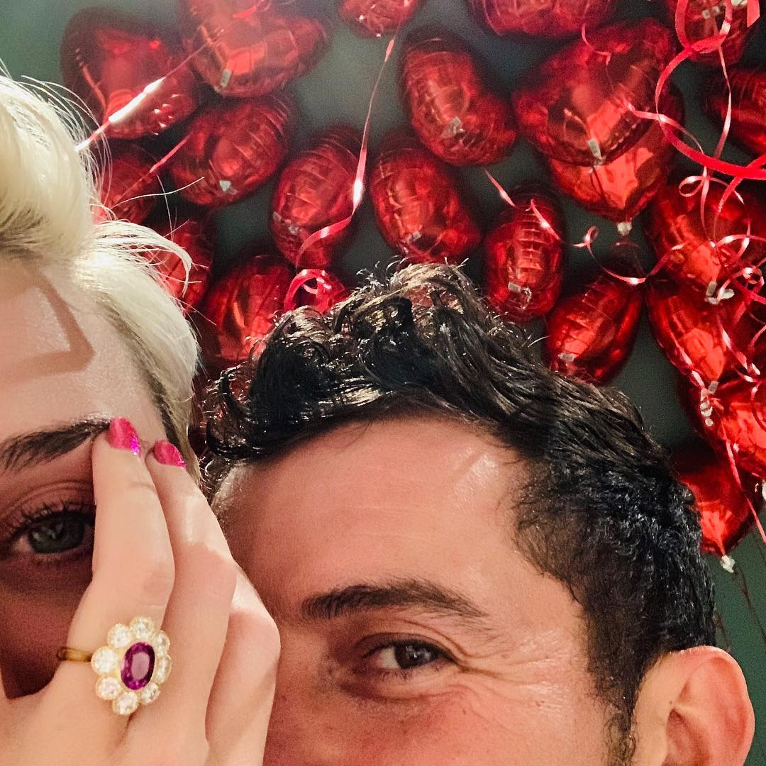 Congrats on your engagement, @KatyPerry & Orlando Bloom: https://on.mtv.com/2SB7L3r ❤️