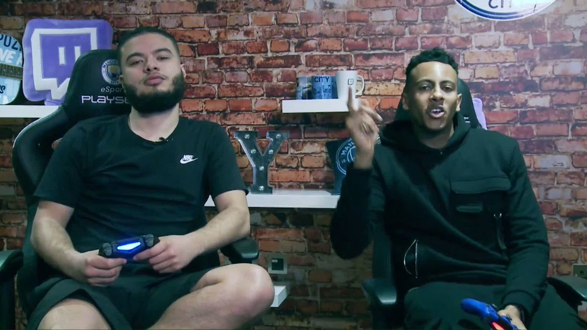 Let the games begin!  Join Liam and Kyle LIVE on our @Twitch channel now for some #FIFA19 action! ⚽️  ▶️ https://www.twitch.tv/mancity 🔵 #mancity