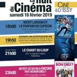 Image for the Tweet beginning: #QueFaireAIssy 🔛 NUIT DU CINÉMA  Le