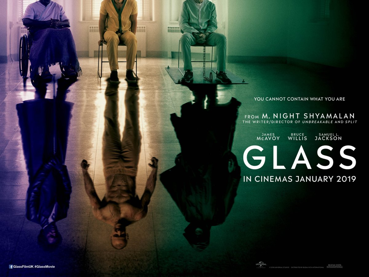 Glass is the conclusion to M. Night Shyamalan's surprise trilogy tying together the characters of Unbreakable and Split! With Bruce Willis, Samuel L. Jackson and James McAvoy all sharing the screen don't miss this epic conclusion here at Gulbenkian: http://bit.ly/2X53aW1