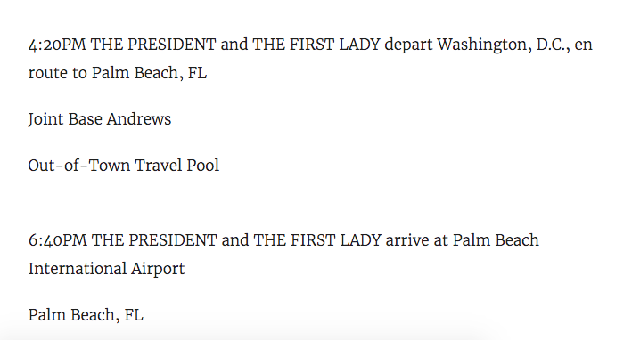 If we're in a such a state of National Emergency…  Why is the President jetting off to his golf resort right after he signs the bill?