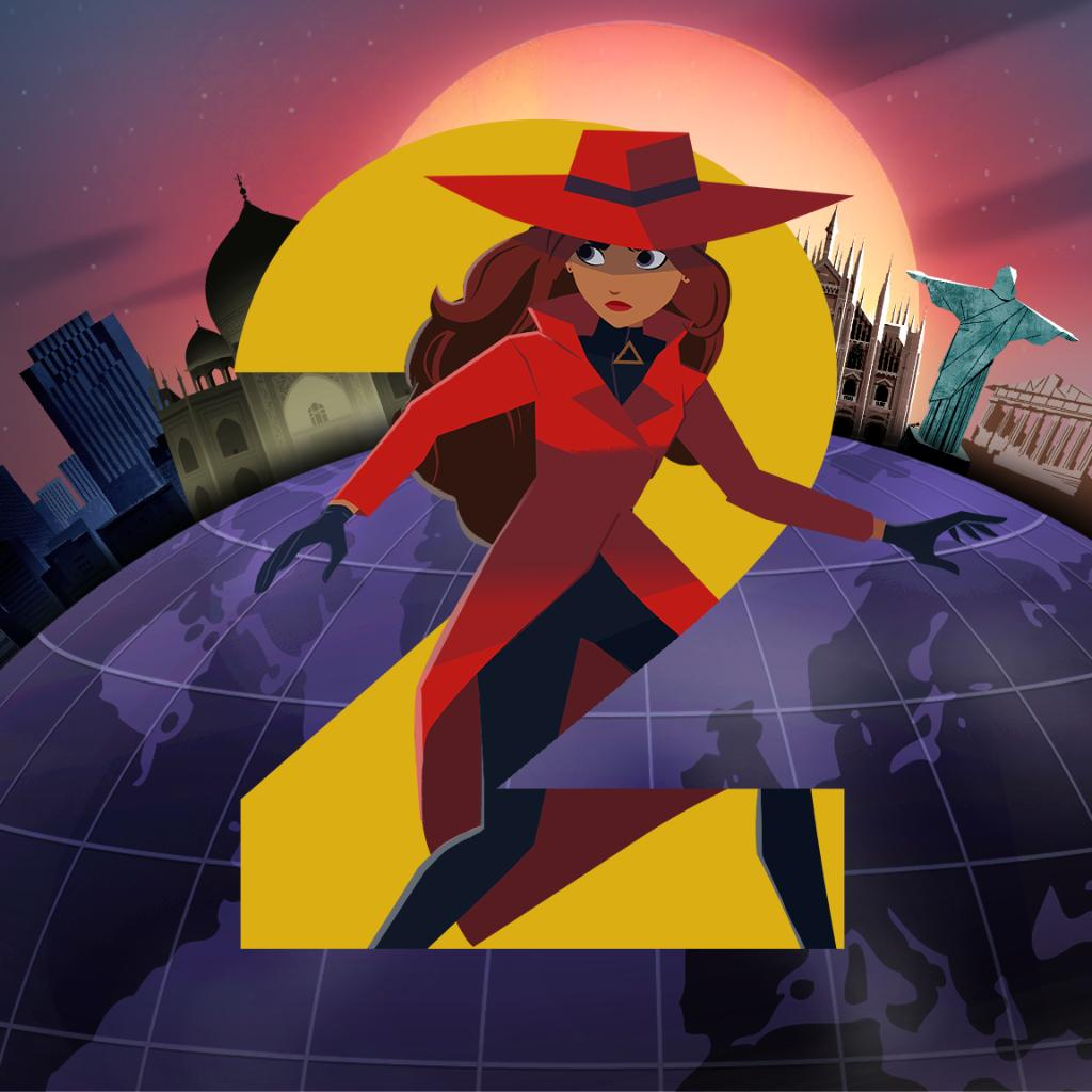 Where in the world is Carmen Sandiego season 2 you ask?   Well, it's officially returning on @Netflix! Keep those red fedoras on and stay tuned for more details. #CarmenSandiego #FollowtheFedora