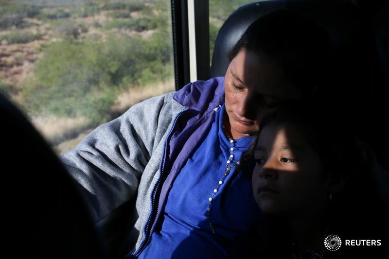 Orfa set out with her three children in early 2018 to make the approximately 2,700-mile journey through Mexico to the U.S., joining one of the 'caravans' of thousands of Central American migrants. @Lelliottphoto followed their journey to New Mexico