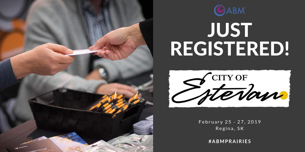 The City of Estevan, located in Southern Saskatchewan, have registered for #ABMPrairies! After establishing an economic development board in 2017, they are attending with hopes of creating partnerships to build their local economy. Register to meet them: http://ow.ly/UBxS30nANAC