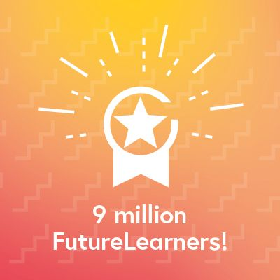 We've just reached 9 million FutureLearners!  Thank you to all of our dedicated learners for spreading the word 🗣 and helping us transform access to education.