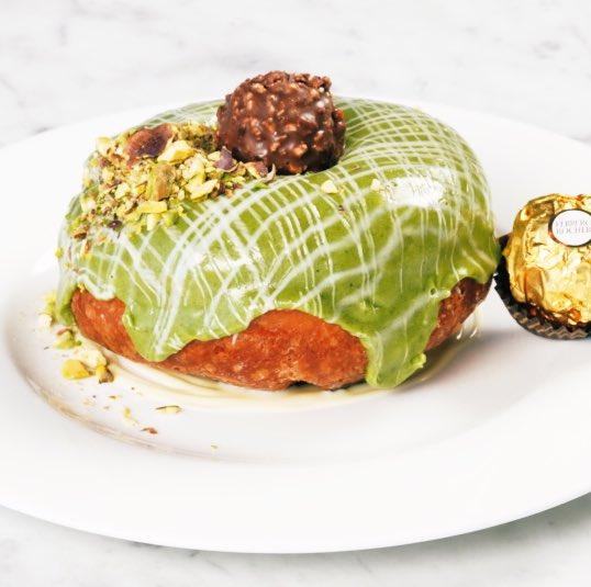 Perfect for #Easter this dessert elevates traditional Italian Ciambella - Pistachio Glazed Ciambella with Ferrero Rocher @francescocook #FerreroxFrancesco
