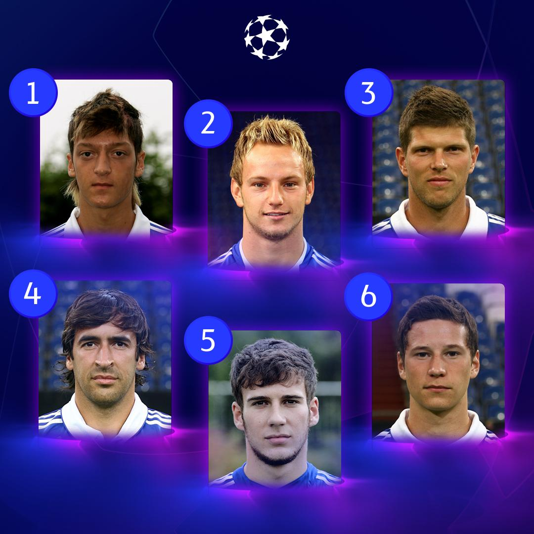 🤩 Six flashback Schalke stars 🤩  How many can you name? 😏  #UCL | #FlashbackFriday