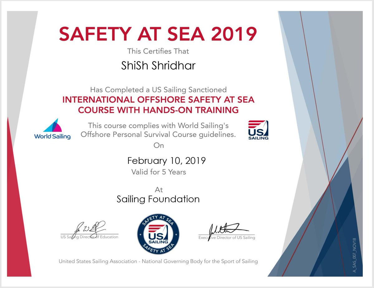 Thank you for taking the course and for your efforts to learn more about safety at sea! #safetyatsea