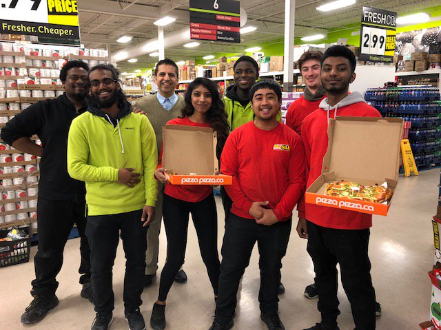 Special delivery of heart pizzas around the community yesterday! ❤🍕